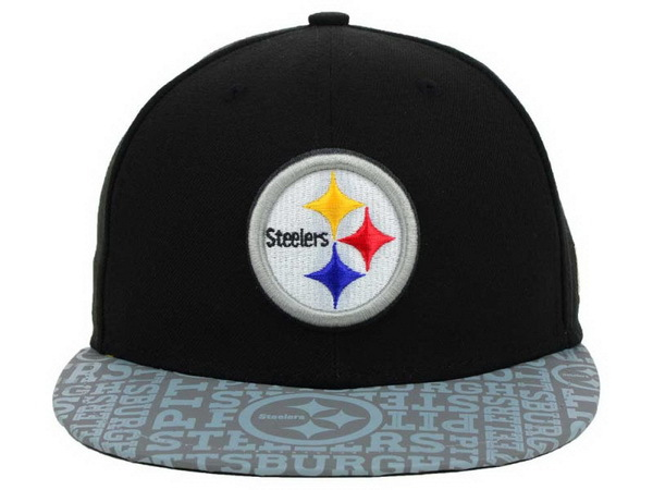 Pittsburgh Steelers Black Snapback Hat XDF 0528