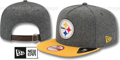 Pittsburgh Steelers-Melton Snapback Hat SF 12