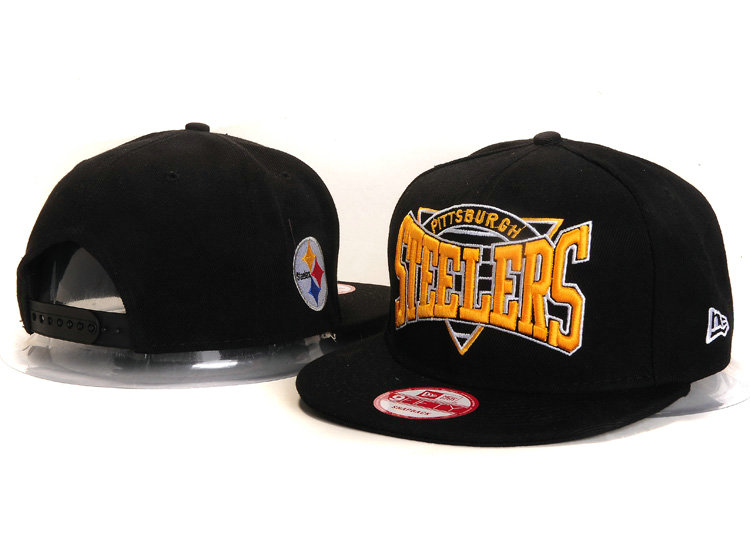 Pittsburgh Steelers Black Snapback Hat YS