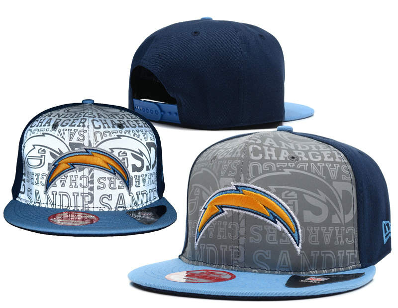 San Diego Chargers 2014 Draft Reflective Snapback Hat SD 0613