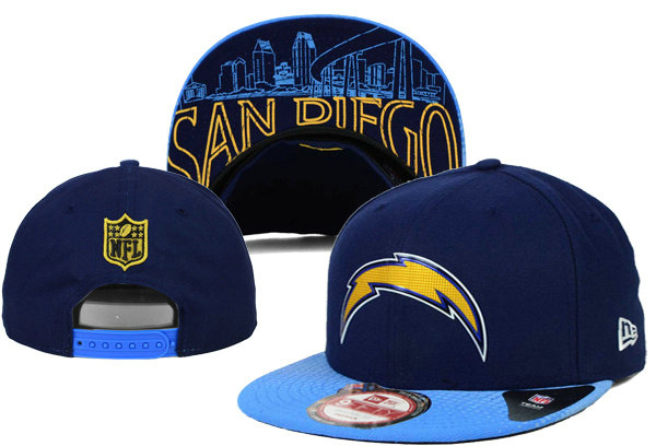 San Diego Chargers Snapback Navy Hat XDF 0620