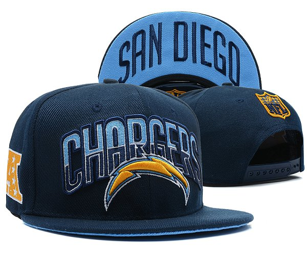 San Diego Chargers Snapback Hat SD 2817