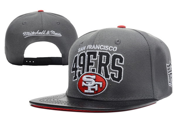 San Francisco 49ers Grey Snapback Hat XDF 0512