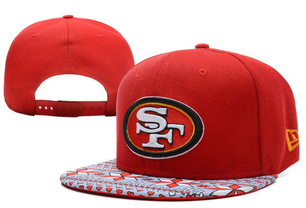 San Francisco 49ers Red Snapback Hat XDF 1 0528