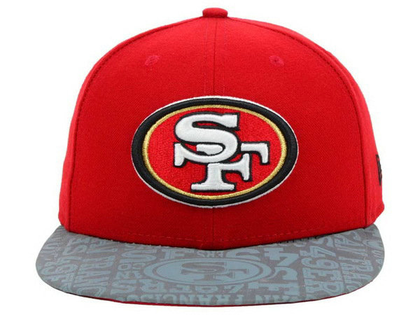 San Francisco 49ers Red Snapback Hat XDF 0528