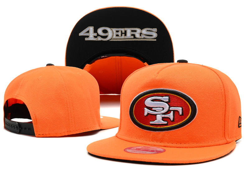 San Francisco 49ers Orange Snapback Hat LX 0721