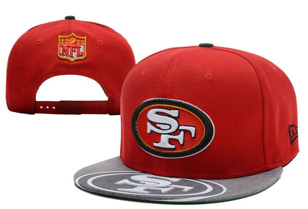 San Francisco 49ers Red Snapback Hat XDF 1 0721