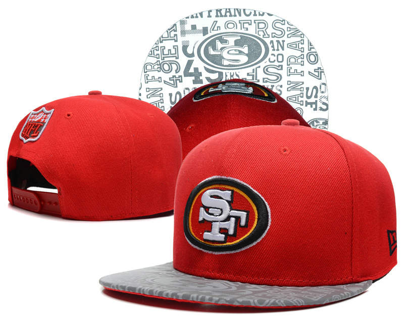 San Francisco 49ers 2014 Draft Reflective Red Snapback Hat SD 0613