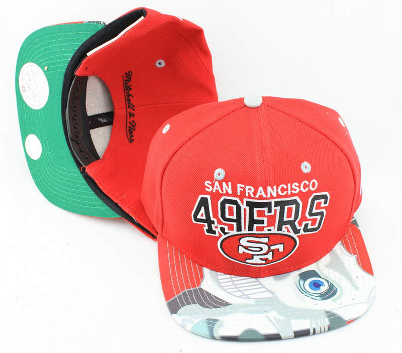 San Francisco 49ers Red Snapback Hat JT 0613