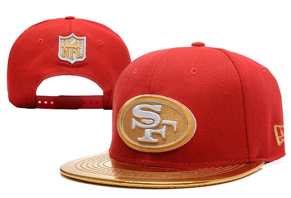San Francisco 49ers Red Snapback Hat XDF 0613