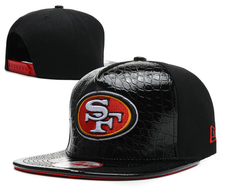 San Francisco 49ers Black Snapback Hat SD