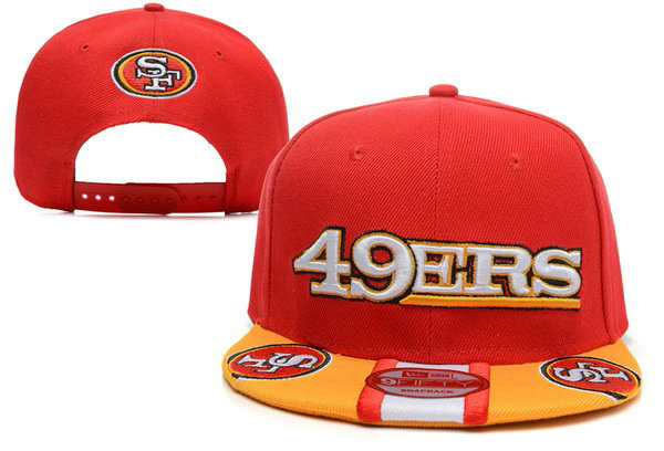 San Francisco 49ers Red Snapback Hat XDF
