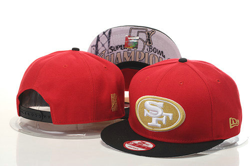 San Francisco 49ers Snapback Red Hat 1 GS 0620