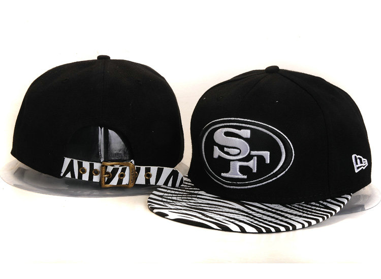 San Francisco 49ers Black Snapback Hat YS 1
