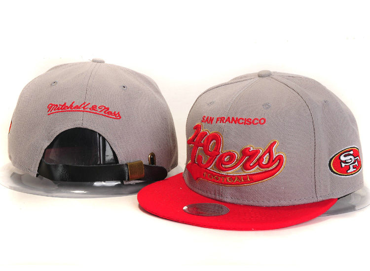 San Francisco 49ers Grey Snapback Hat YS
