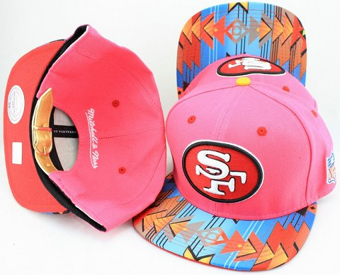 San Francisco 49ers Navajo Retro Bill Gold Leather Strap Back Hat JT03