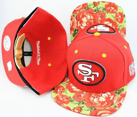 San Francisco 49ers Navajo Retro Bill Gold Leather Strap Back Hat JT14