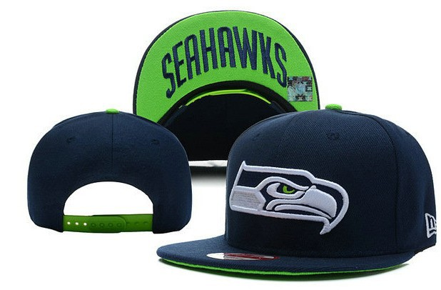 Seattle Seahawks Blue Snapback Hat LX 0512