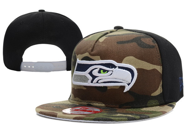 Seattle Seahawks Camo Snapback Hat XDF