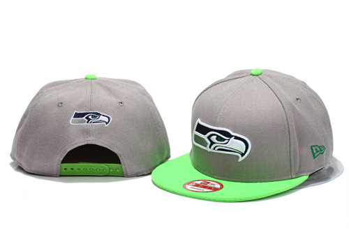 Seattle Seahawks Grey Snapback Hat YS