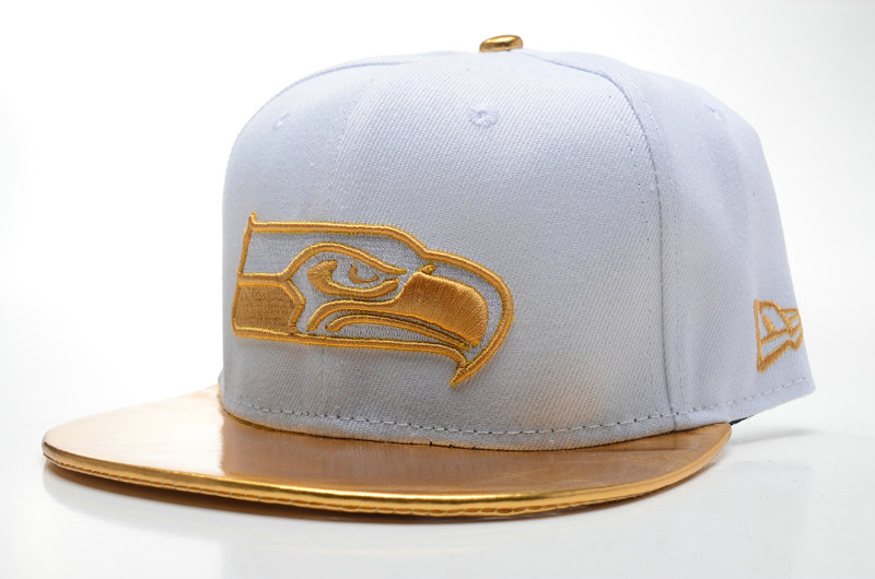 Seattle Seahawks White Snapback Hat SD