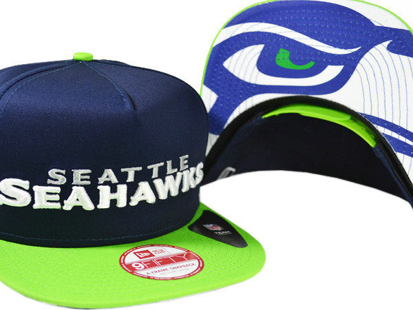 Seattle Seahawks Navy Snapback Hat XDF 0721