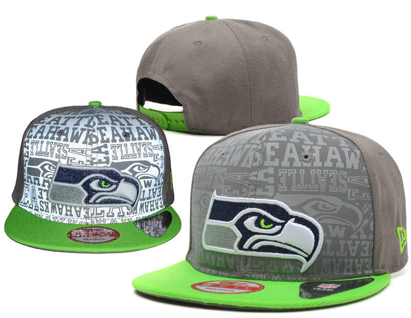 Seattle Seahawks Reflective Snapback Hat SD 0721