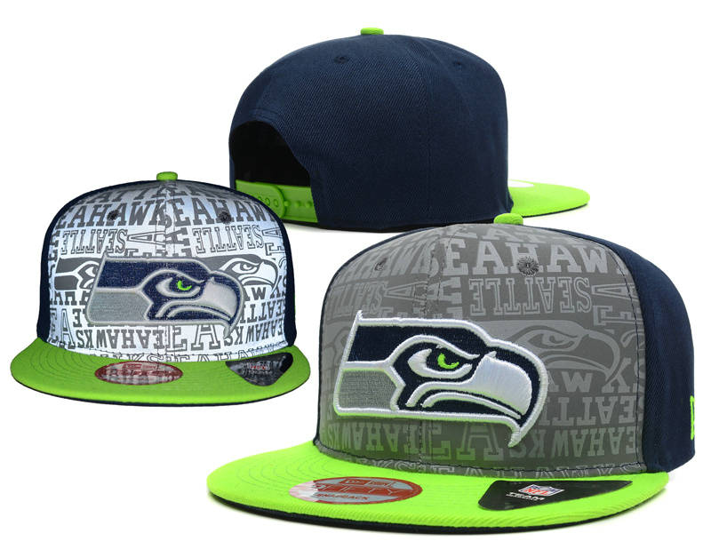 Seattle Seahawks 2014 Draft Reflective Snapback Hat SD 0613