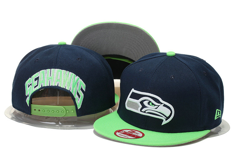 Seattle Seahawks Snapback Navy Hat GS 0620