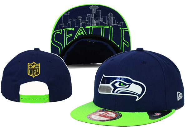 Seattle Seahawks Snapback Navy Hat XDF 0620