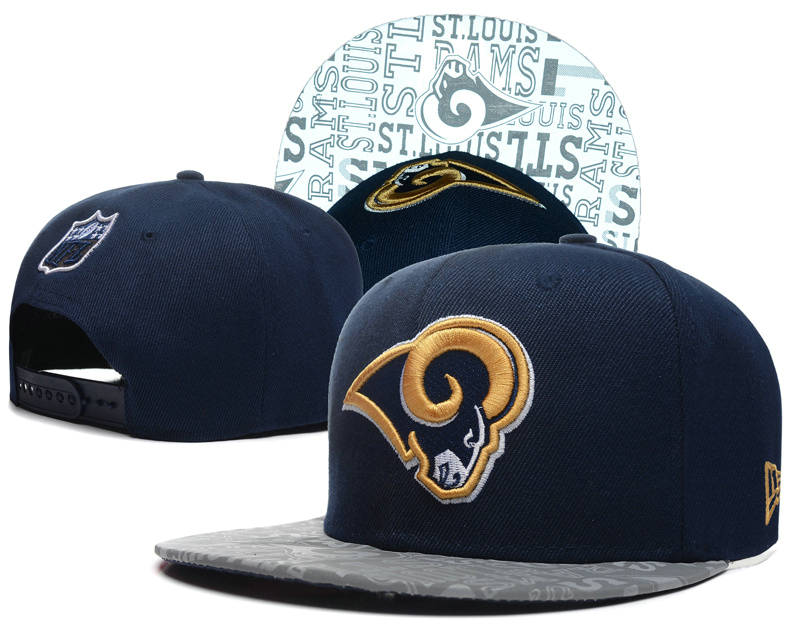 St. Louis Rams 2014 Draft Reflective Blue Snapback Hat SD 0613