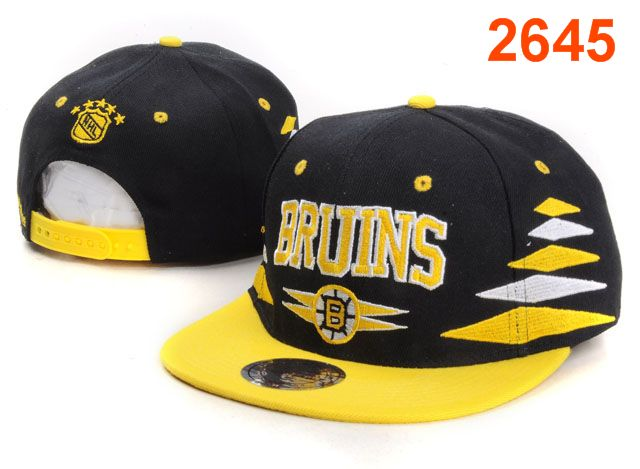 Boston Bruins NHL Snapback Hat PT44