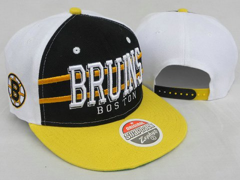 Boston Bruins NHL Snapback Zephyr Hat DD03