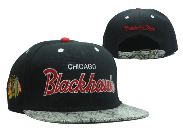 Chicago Blackhawks Black Snapback Hat SF