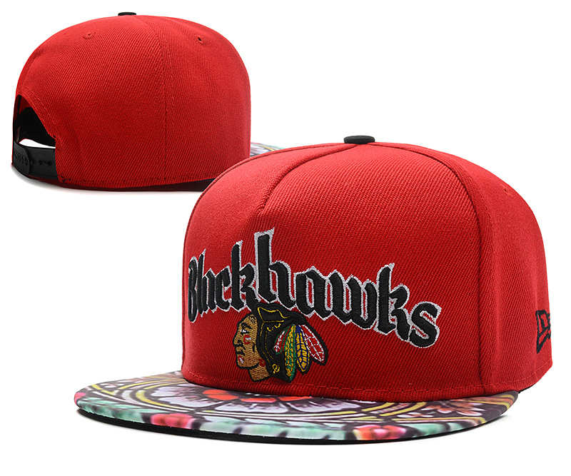 Chicago Blackhawks Red Snapback Hat DF 0613