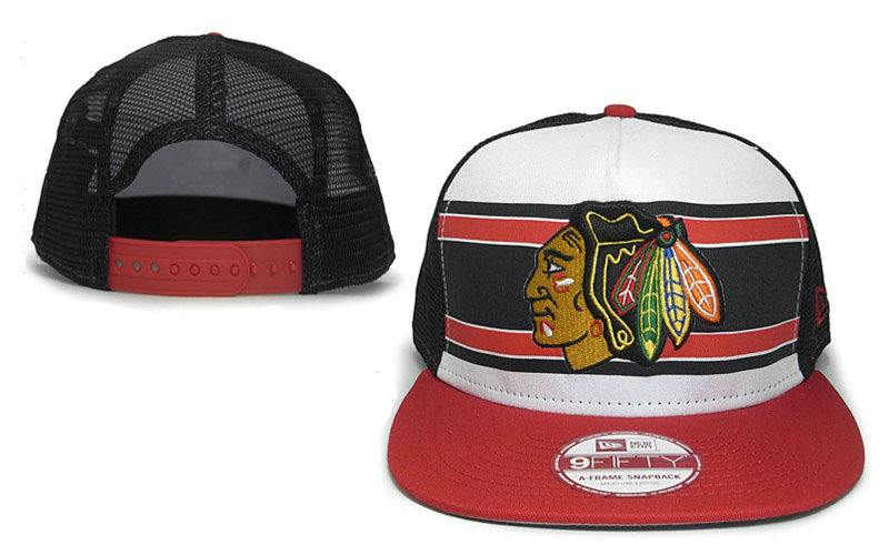 Chicago Blackhawks Mesh Snapback Hat GF 0721