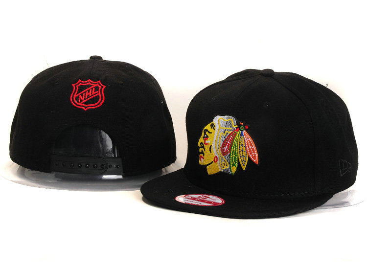 Chicago Blackhawks Black Snapback Hat YS