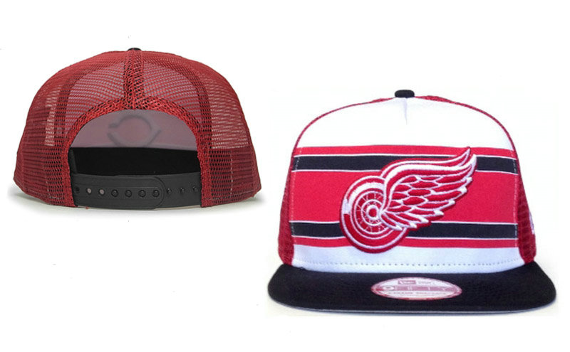 Detroit Red Wings Mesh Snapback Hat GF 0721