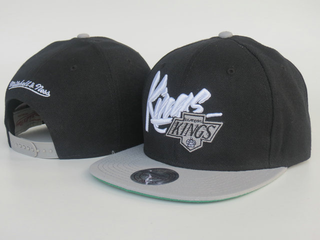 Los Angeles Kings Black Snapback Hat LS 1