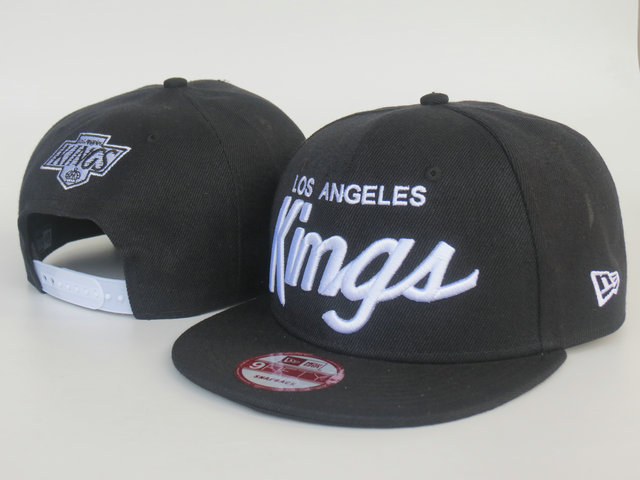 Los Angeles Kings Black Snapback Hat LS