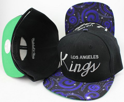 Los Angeles Kings Flower Bill Snapback Hat JT04