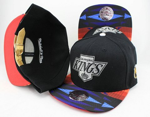 Los Angeles Kings Navajo Retro Bill Gold Leather Strap Back Hat JT06