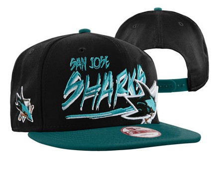San Jose Sharks NHL Snapback Hat 60D2