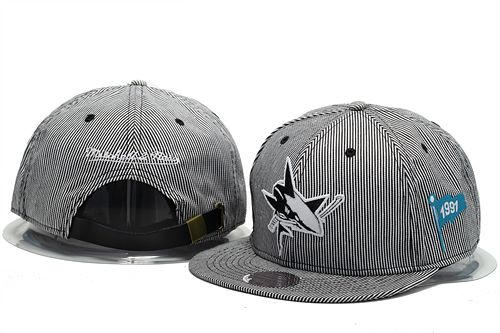 San Jose Sharks Snapback Hat 0903