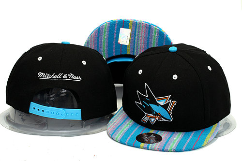 San Jose Sharks Black Snapback Hat YS 0613