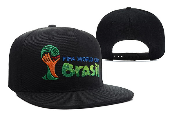 2014 FIFA World Cup Brasil Black Snapback Hat XDF 0512