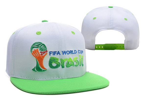 2014 FIFA World Cup Brasil White Snapback Hat XDF 0512