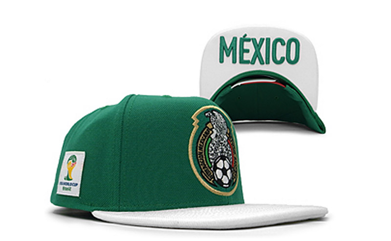 Mexico 2014 World Cup Green Snapback Hat GF 0721