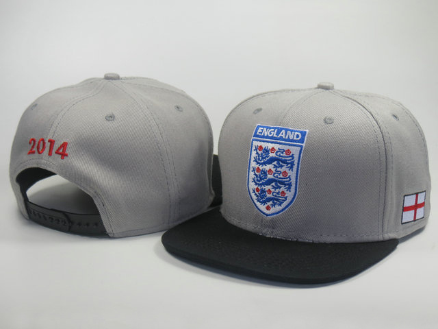 England 2014 World Cup Grey Snapback Hat LS 0617