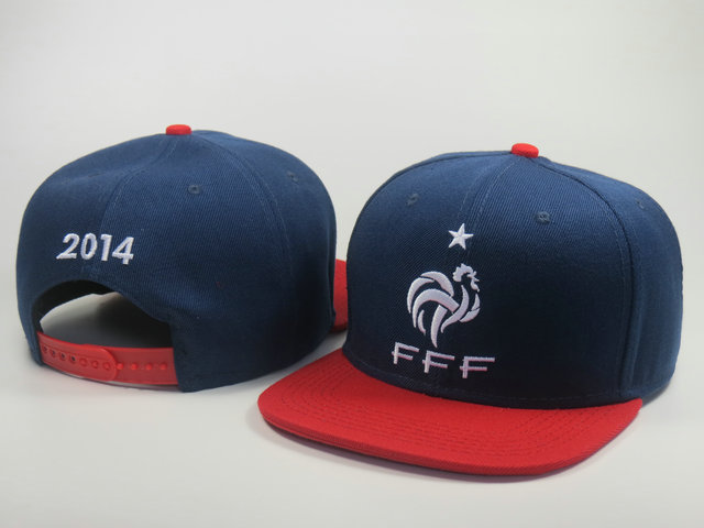France 2014 World Cup Blue Snapback Hat LS 0617